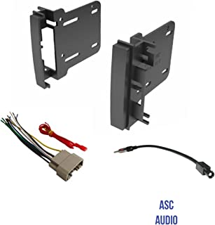 ASC Audio Car Stereo Radio Install Dash Kit, Wire Harness, and Antenna Adapter to Add a Double Din Radio for Some Chrysler Dodge Jeep- Vehicles Listed Below,
