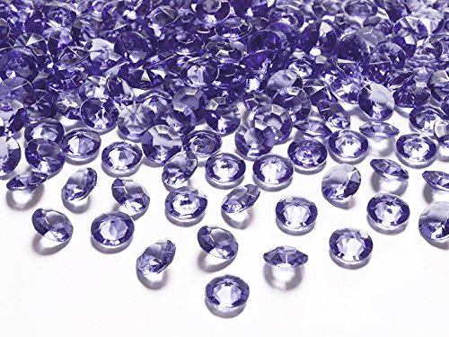 Schnooridoo 500 Diamanten Violett/Lila 10mm Tischdekoration Streuartikel Hochzeit Taufe Konfirmation Event Deko