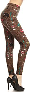 Leggings Depot Women's Ultra Soft Printed Fashion Leggings BAT21