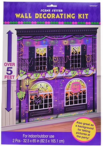 """amscan 670082 Mardi Gras Party Scene Setters Wall Decorating Kit 65"""" x 65"""" 1ct, Nhl Ice Time!"""