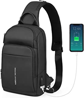 MARK RYDEN Sling Bag for men small waterproof Shoulder Chest Cross Body Backpack Lightweight Casual Daypack for 9.7 inch ipad