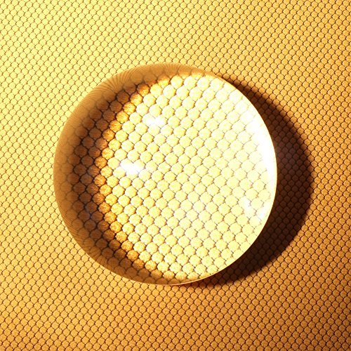 クリスタル ルーペ アクリル 虫眼鏡 拡大鏡 水まんじゅう 文鎮鏡 ペーパーウェイト 地図 新聞 雑誌 書類 半球 半ボール 80mm 拡大率10倍 Dandelion