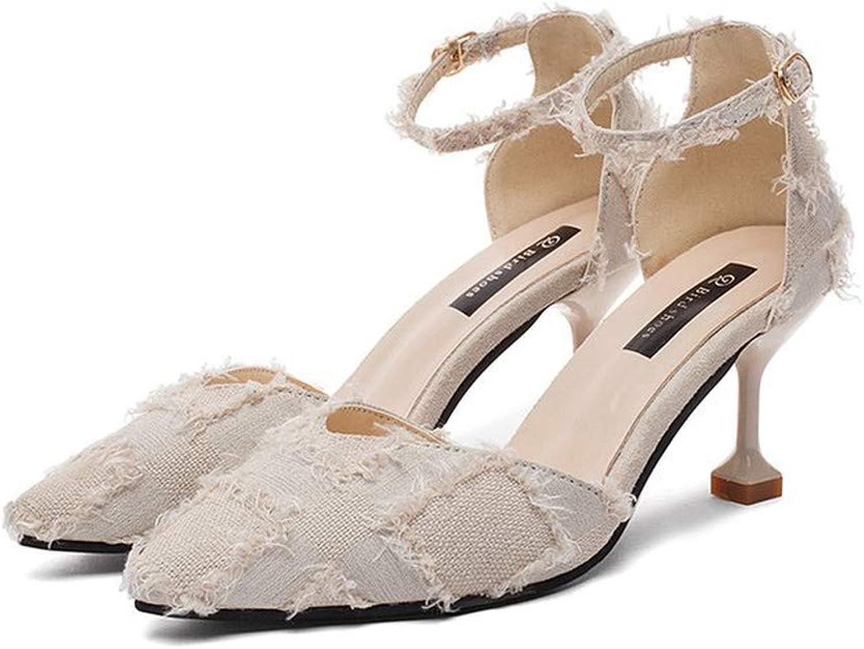KUUI Women's Toe High Heels Dress Wedding Party Elegant Heeled Sandals