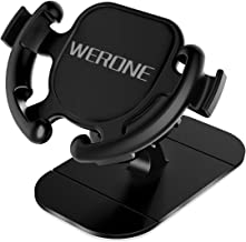 WERONE Dashboard Car Phone Mount, Easy Stick Holder, 360-Degree Rotation for Easier GPS Navigation,One-Hand to Mount & Relaese