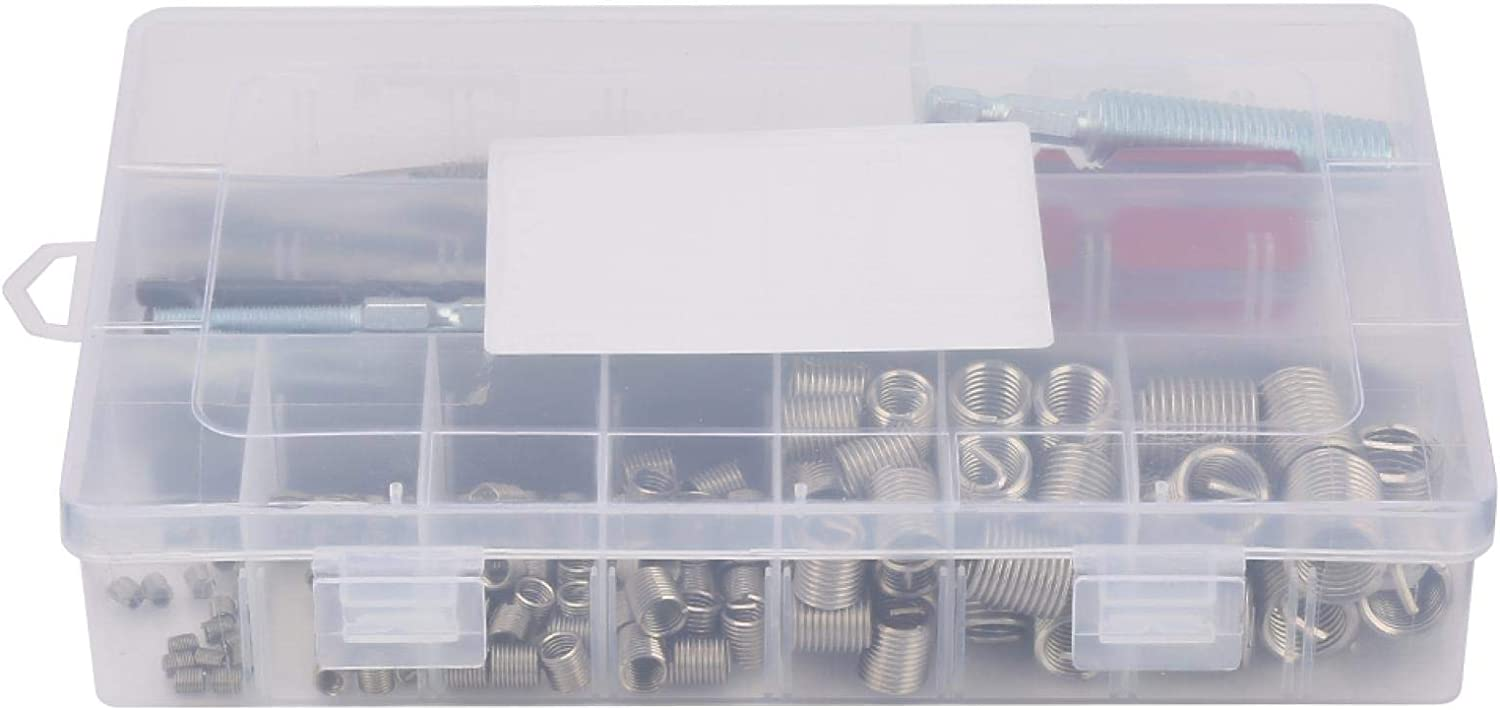 Dallas Mall Wire Thread Insert 142Pcs set Sleeve Stainless Screw Steel Recommendation