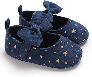 [SYDZ] 弓王女の靴フォーマルシューズスエードベビーシューズリボンスタイルソフトボトムスターシューズ