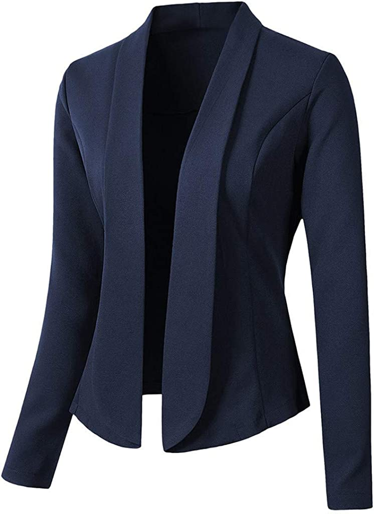 Keepmove Blazers Sales results No. 1 for Women Tops Max 79% OFF Office Sleeve Ladies Jacket Long