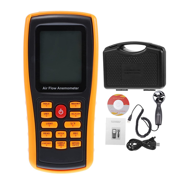 Wowlela Max 75% OFF Max 61% OFF GM8909 Handheld Windmeter Anemometer Industrial Digital