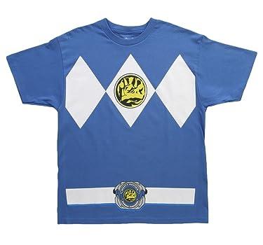 Power Rangers The Blue Rangers Costume T-Shirt Tee