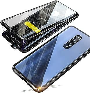 Jonwelsy 携帯電話 ケース Xiaomi Mi 9T / 9T Pro に適し 360度 前面と背面 強化ガラス 磁気吸着 金属フレーム カバー 完全保護 耐衝撃 擦り傷防止 磁性技術 (黒)