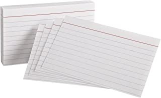 """Oxford Heavyweight Ruled Index Cards, 3"""" x 5"""", White, 100 Per Pack (63500)"""