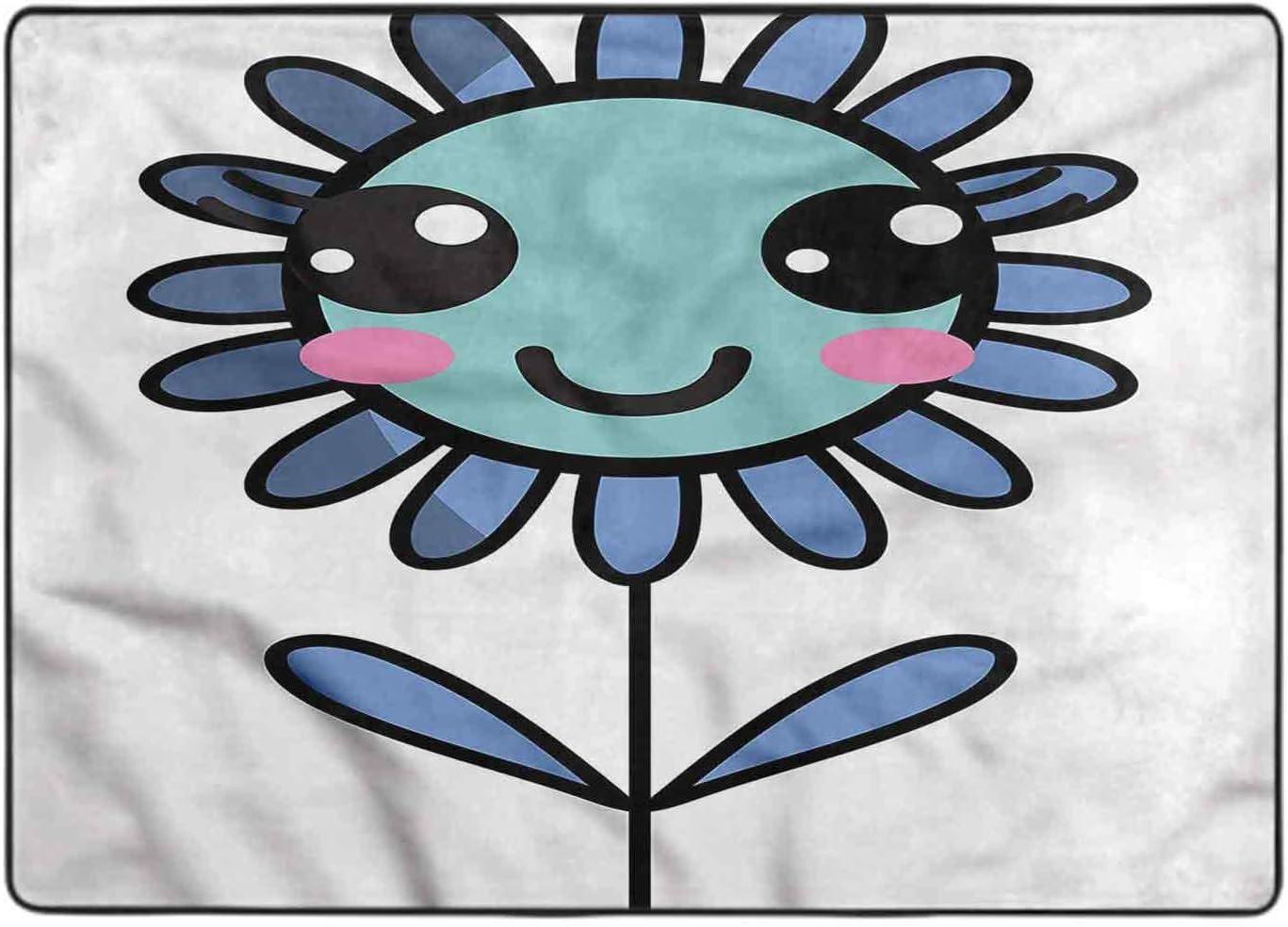Bedroom Area Rug Kawaii Leaves and Petals Ar 6 Feet 4 by Tulsa Mall Free shipping on posting reviews Cartoon