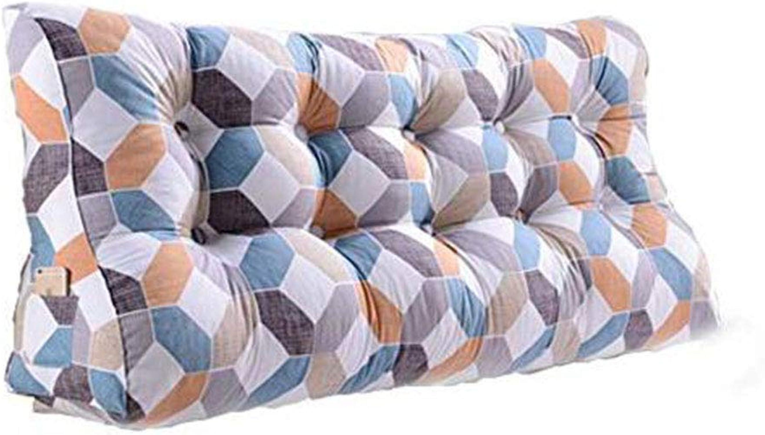 auténtico GLL Cabecero Doble Doble Doble Soft Bag Triangle Cojín Pillow Pillow Lumbar Pillow Sofa Cama Trasera Cintura Grande (Color   2 , Tamaño   90cm)  Para tu estilo de juego a los precios más baratos.