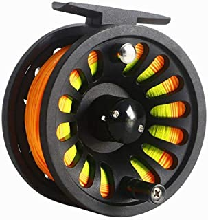 Isafish Fly Reel 5/6 Wt with Weight Forward Fly Fishing Line WF-6F with Welded Loop Backing Line Taper Leader Tippet Combo Set