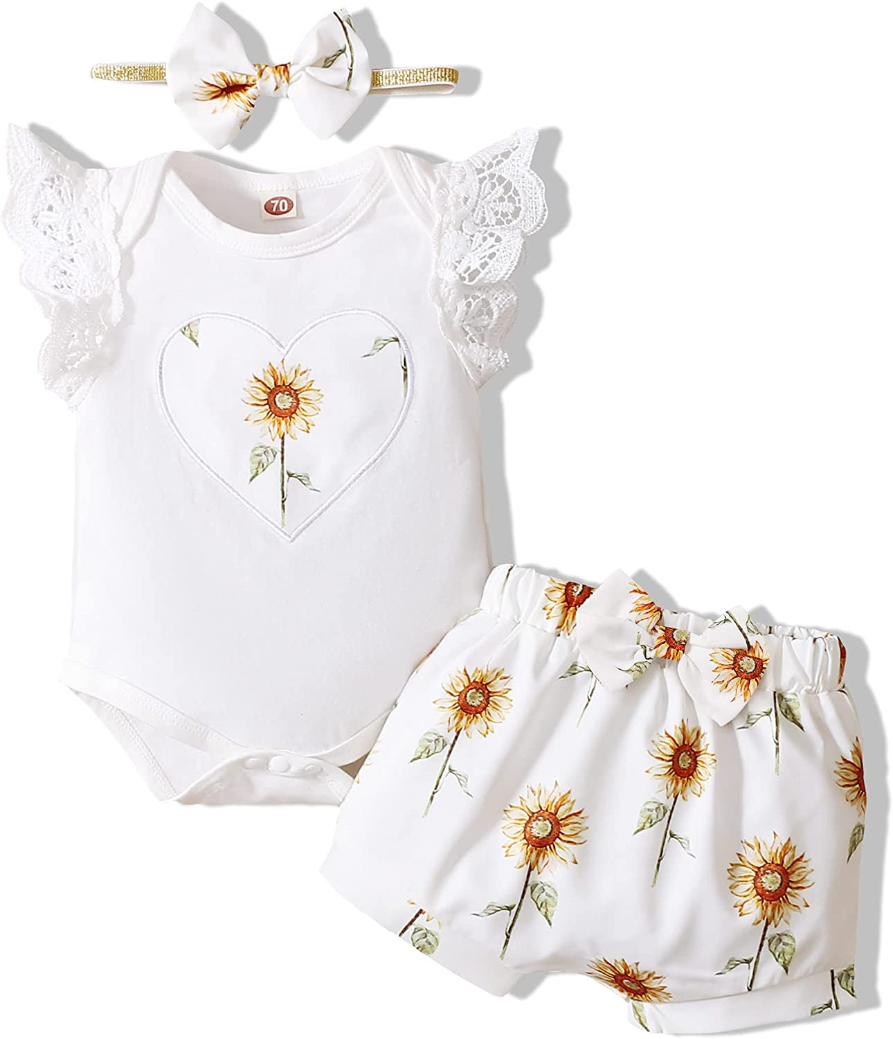 Newborn Baby Girl Clothes Infant Romper Shorts Set Cute Summer Outfits Floral Baby Clothes for Girl