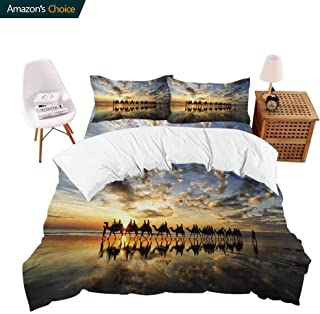 shirlyhome Hotel Collection Soft Luxury Bed Sheets Breathable Australia Bloom Cable Beach Caravan Warm 4 Piece Set Queen