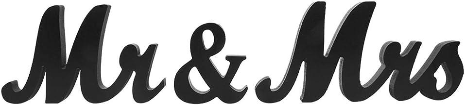 Houten plaquette Mr & Mrs huwelijksdecoratie voor feestdecoratie(black)