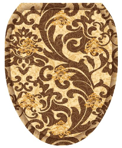 Toilet Tattoos, Toilet Seat Cover Decal, Tuscany Filigree, Size Elongated