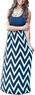Women`s Boho Summer Empire Waist Long Flowy Beach Maxi Party Dress