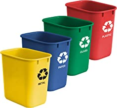 Acrimet Wastebasket for Recycling 27QT (4 Units)