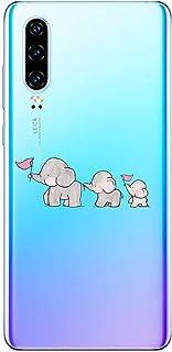 Oihxse beschermhoes voor Huawei Nova Lite [schattig transparant olifant konijntje patroon serie] beschermhoes gemaakt van ...