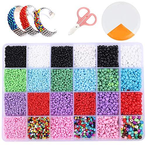 Cuentas de Colores 2mm 3mm 4mm Potro Mini Cuentas y Abalorios Cristal para DIY...