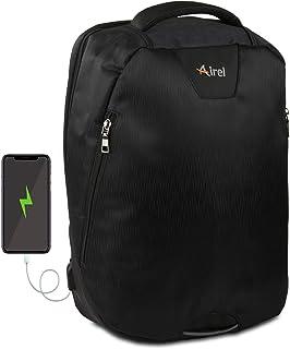 Airel Mochila portátil-Inteligente | Mochila Impermeable para Portátil con Puerto USB | Daypack Portátil Mochila para Ordenador Portátil | Mochila con Cargador | Medidas: 41x35x15 cm. 15.6 Pulgadas