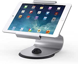Beelta Aluminium iPad Stand and Holders - 360 Swivel Base,for iPad Air, iPad 5th/ 6th, 10.2 iPad 7, iPad Pro 9.7/12.9/10.5, Tablets (6.65-8.7 inch),Silver,BSC105S