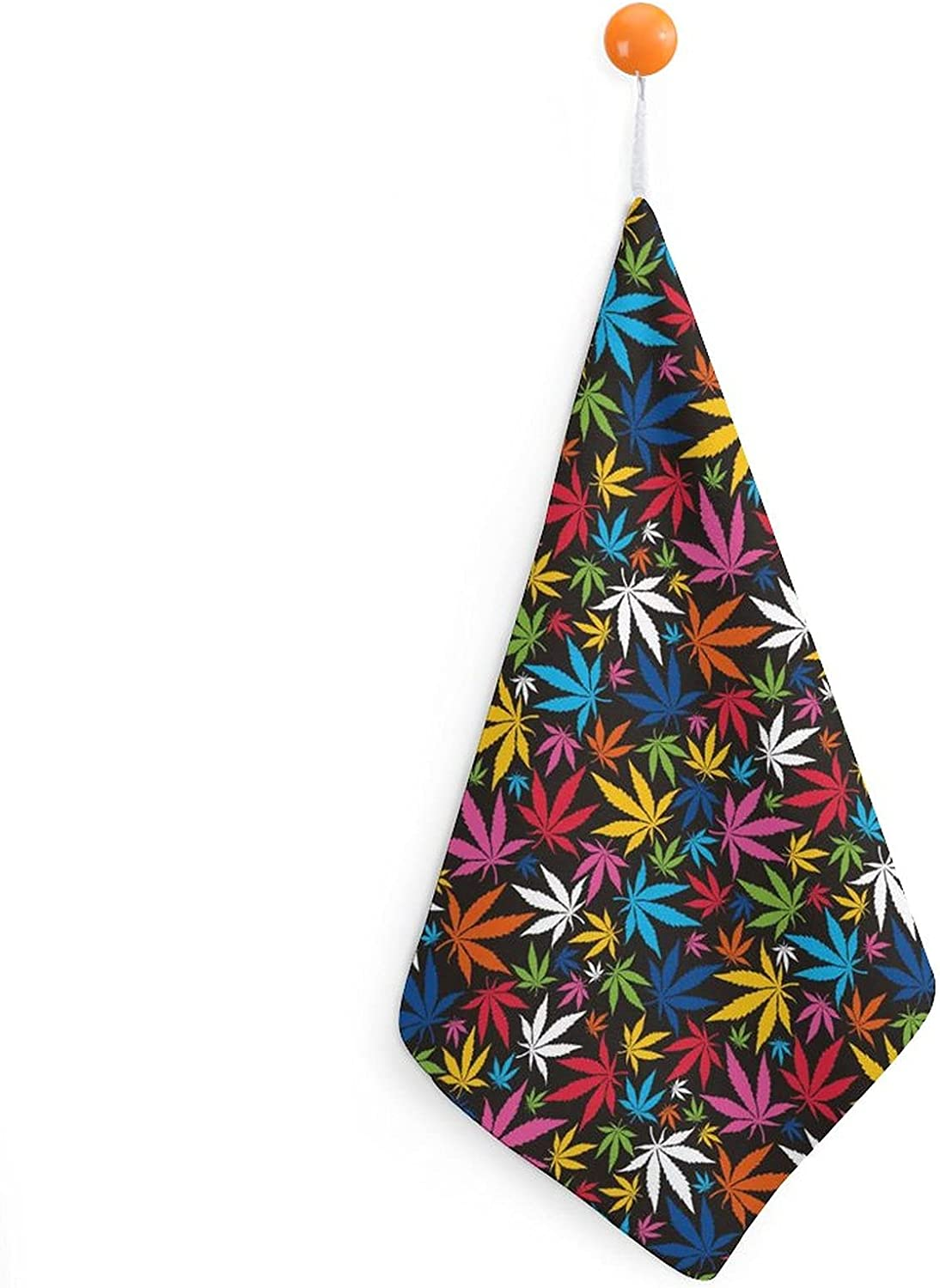Colorful Cannabis Leaves Very Ranking TOP15 popular Hanging Hand Microfi Towels Fast Drying