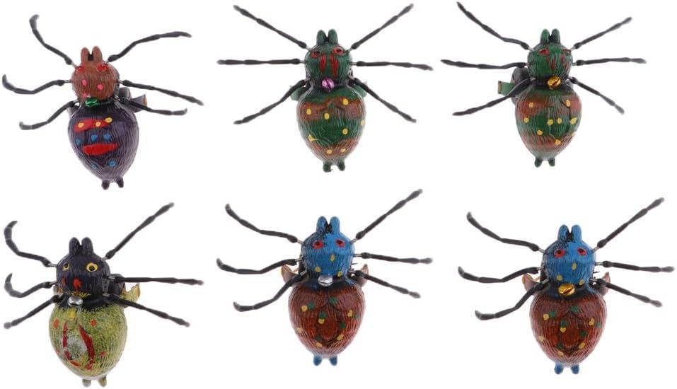 Ara/ñas Baoblaze Juguete de Tira de Cuerda de Animales Realistas Figura de Cangrejos//Ranas//Ara/ñas de Arrastre Juego para Beb/és Ni/ños en Edad Preescolar