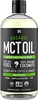 Organic MCT Oil derived from Non-GMO Organic Coconuts | Great in Keto Coffee, Tea, Smoothies & Salad Dressings | Non-GMO P...
