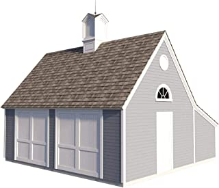 Garage Plans With Storage Loft DIY Backyard Shed Building 22 x 24 Build Your Own