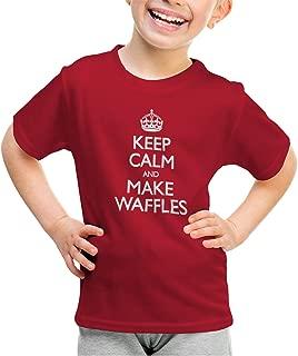 shirtloco Girls Keep Calm and Make Waffles Youth T-Shirt