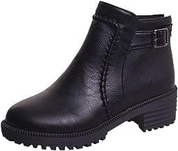 Botas para Mujer,BBestseller Botas descubiertas Zapatos de Mujer de Espesor Grueso con Botas Cortas Botas Invierno Mujer Bota de tacón Alto Estudiante