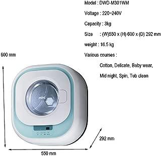 Dawoo DWD-M301 Mini Wall mounted Front Load Washer Drum Type Washing Machine 220V~240V