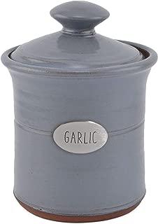 Oregon Stoneware Studio Garlic Pot, Light Blue