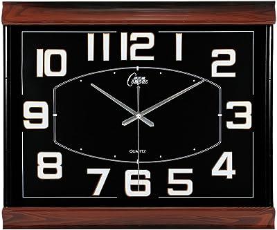 Living Room Mute Wall Clock Creative Clock Art Quartz Calendar Calendar Wall Clock 20 inches,