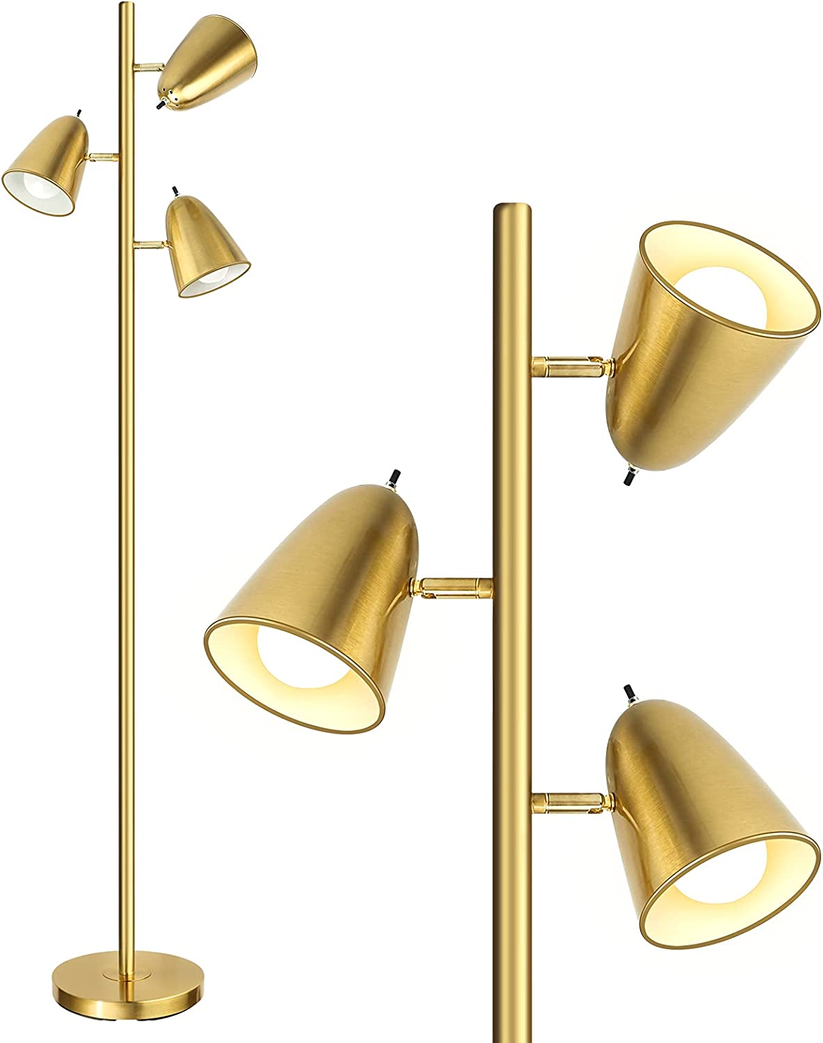 """Qimh Industrial Challenge the lowest price Floor Lamp with 3 Bulbs 64"""" Pol Light Tall Max 63% OFF"""