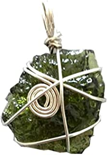 raw moldavite pendants