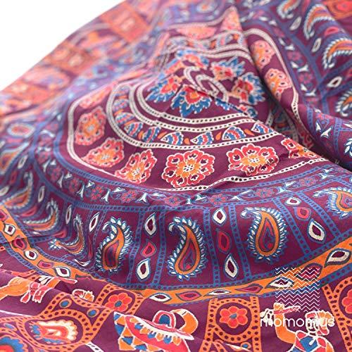 momomus Indischer Mandala-Wandteppich - 100% Baumwolle,...