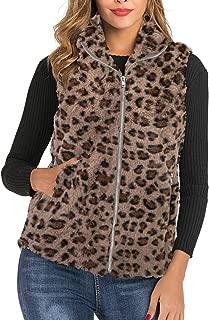 AIMICO Womens Sherpa Fleece Vest Fuzzy Warm Sleeveless Zip Up Casual Coat with Pockets