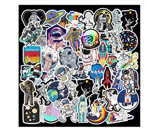 votgl 50 stuks Outdoor 2019 Astronaut stickers voor koffer, skateboard, laptop, bagage, telefoonstijl, doe-het-zelf stickers