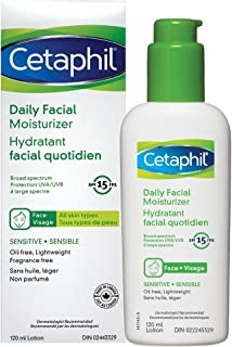 Cetaphil Daily Facial Moisturizer SPF 15 - For Sensitive Skin - Oil Free, Fragrance Free and Paraben Free - Lightweight Lo...