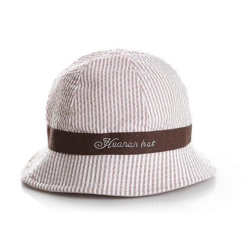 db1bdecb0aa iHomey Baby Toddler Girls Large Brim Sun Hat with Chin Strap Cotton UPF 50+  Sun