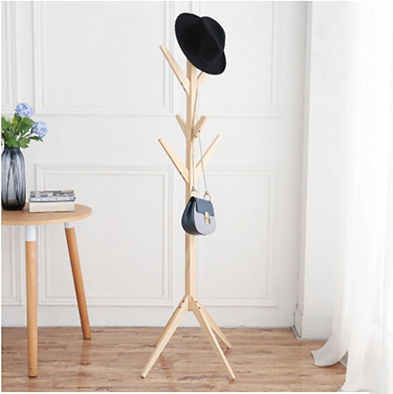 Coat Rack Solid Wood Coat Rack Simple Creative Tree-Shaped Clothes Rack Floor Living Room Bedroom Clothes Hanger Floor (color   B)