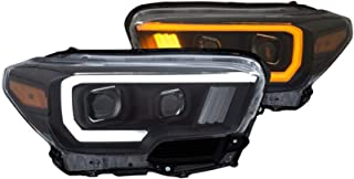 ANZO USA 111397 Projector Headlight Set w/Plank Style Switchback Black