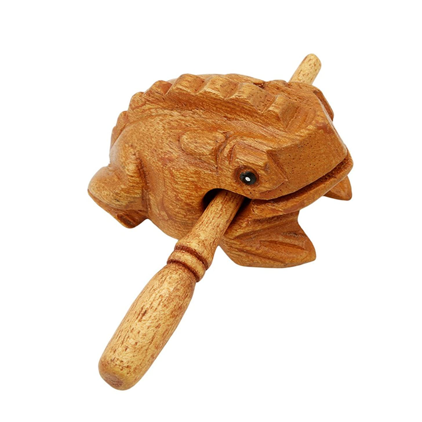 Iumer Wood Frog Guiro Musical Instrument Tone Block Animal Toy
