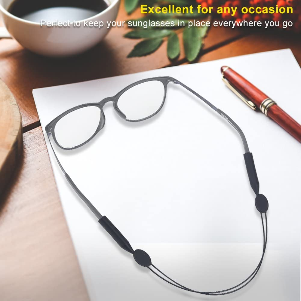 Dioche Sports Glasses Strap, Anti-Slip Adjustable Eyewear Glasses Cord Eyeglasses Band Rope String Holder for Outdoor Cycling Fishing