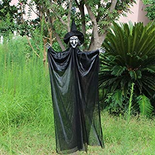 Scary Skull Halloween Hanging Ghosts Electric Bride And Bridegroom Spooky Halloween Ghost Haunted House Escape Horror Props