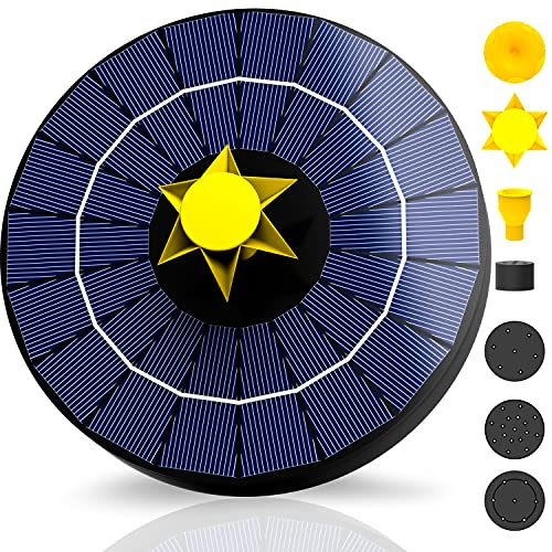 NVRGIUP 4W Solar Fountain with 3000…